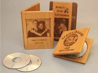 small wood dvd box